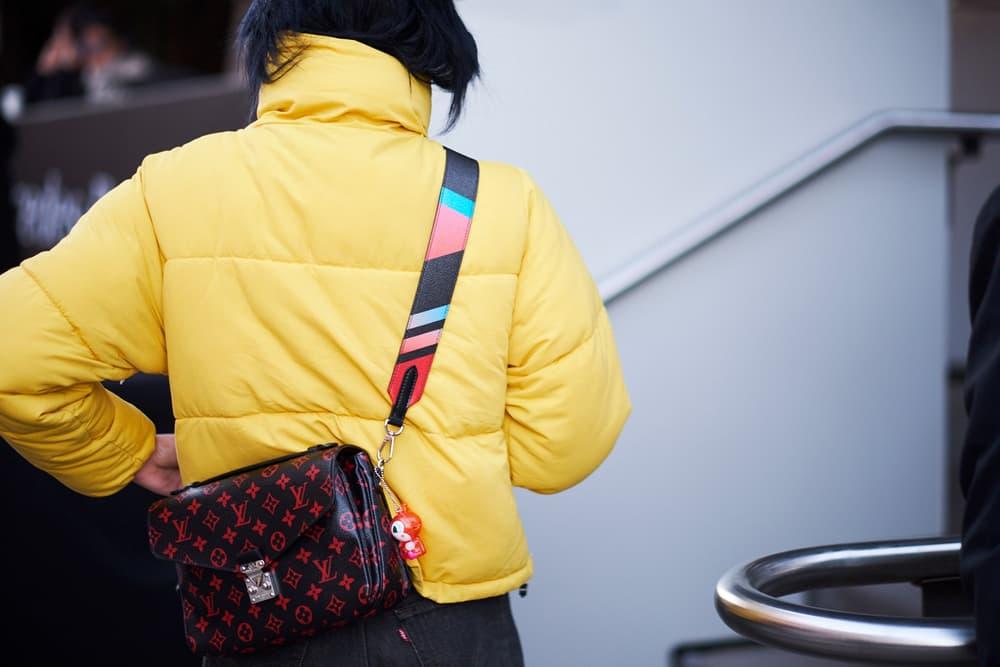Gen Z Yellow Puffer Jacket Louis Vuitton Bag Fashion Week Street Style