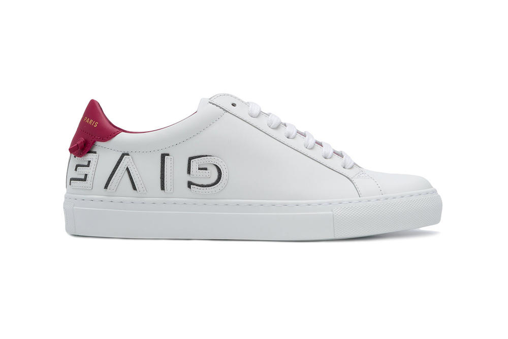 Givenchy Logo Low-Top Sneakers Leather White Red