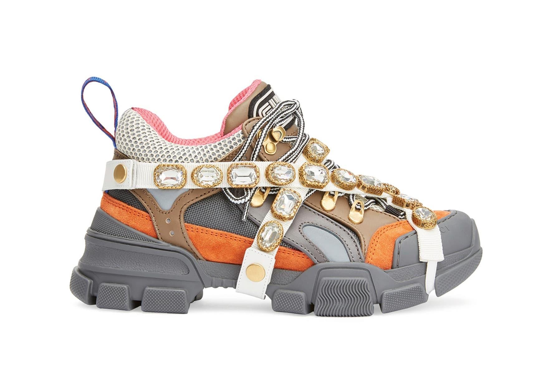 Gucci Chunky SEGA Jewel-Covered Sneakers