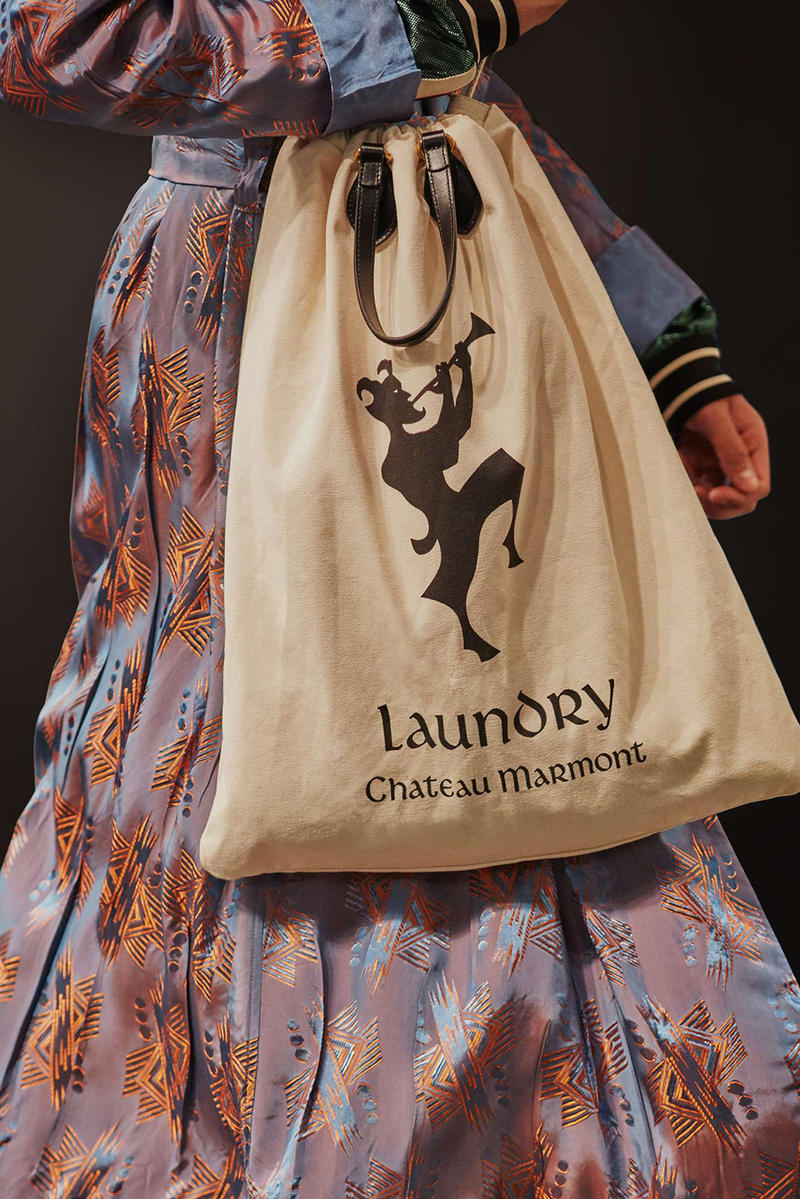 66308652424 Gucci Cruise 2019 Runway Details Laundry Bag Canvas