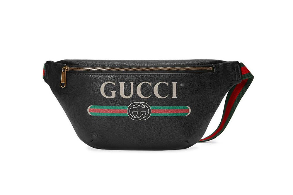 ee137e375dd6e0 Gucci's Logo Fanny Pack and Belt Bag in Black | HYPEBAE