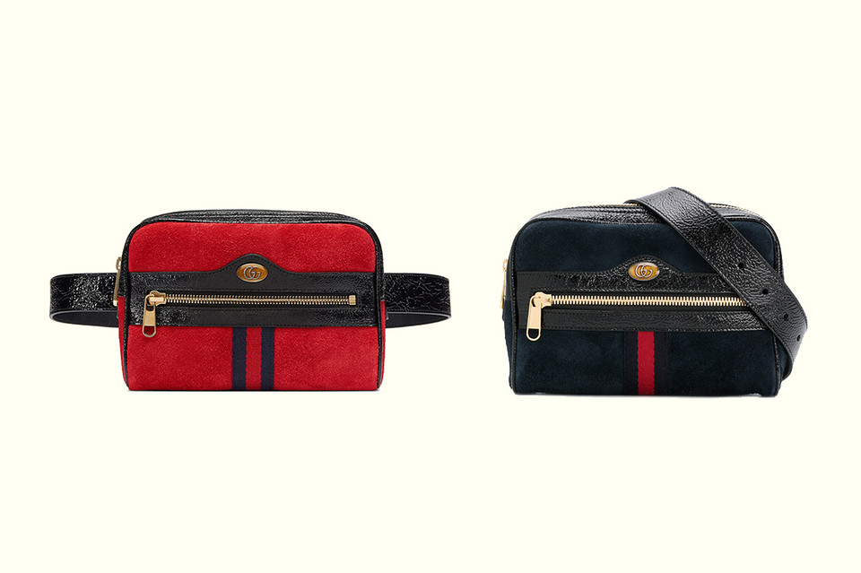 dc7c7638bd5 Gucci Ophidia Belt Bag in Red and Navy