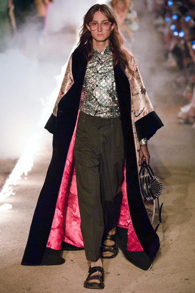 Gucci Resort 2019 Runway Collection Alessandro Michele Print Iconic Pattern Logo Symbolism Religion