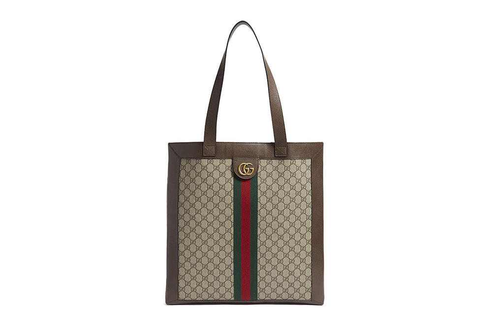 3f28b246aafd Gucci Ophidia Retro Supreme Brown GG Print Logo Leather Tote Bag