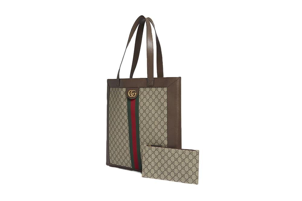 Gucci Ophidia Retro Supreme Brown GG Print Logo Leather Tote Bag