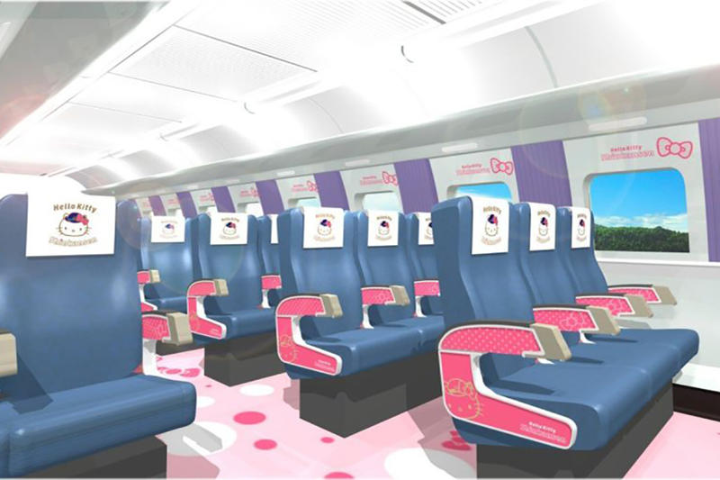Look Inside Sanrio Hello Kitty Shinkansen Bullet Train Osaka Hakata Japan
