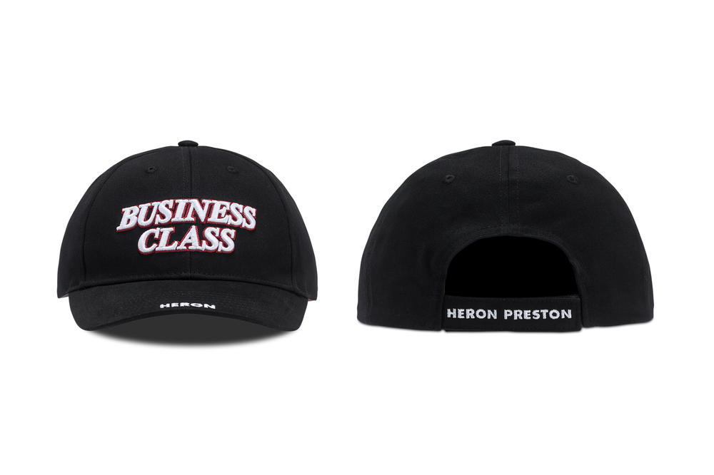 Heron Preston Business Class Hat Black Red White