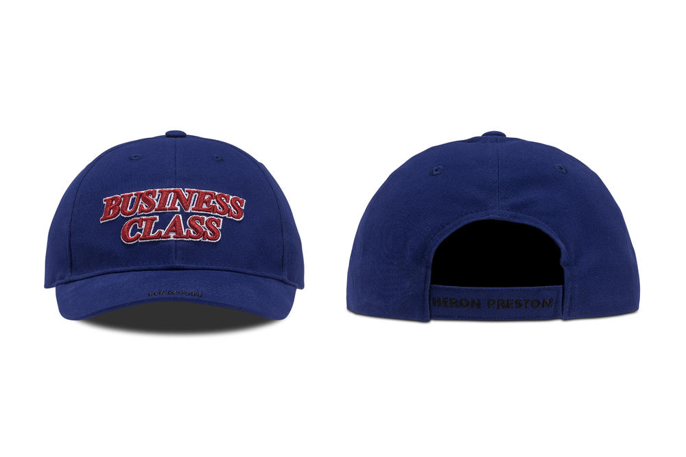 Heron Preston Business Class Hat Blue Red