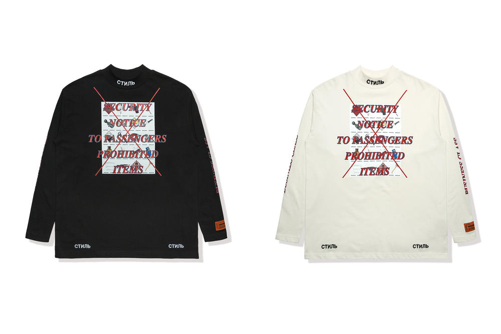 Heron Preston Business Class Sweater White Black