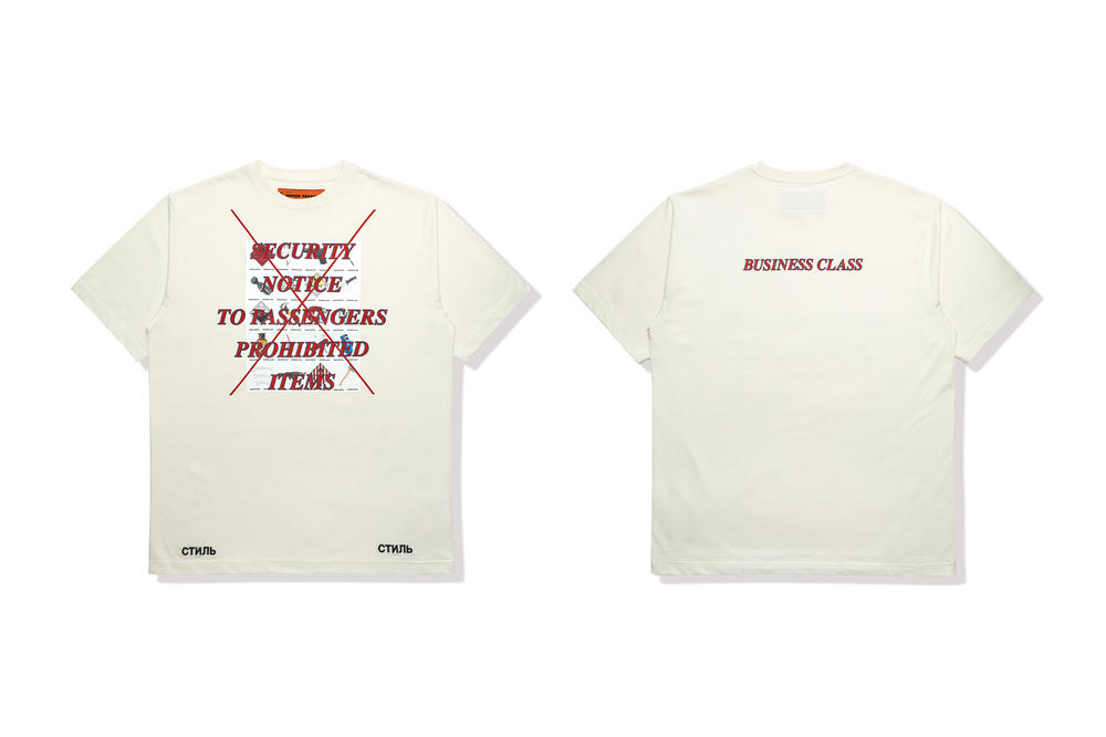 Heron Preston Business Class T Shirt White
