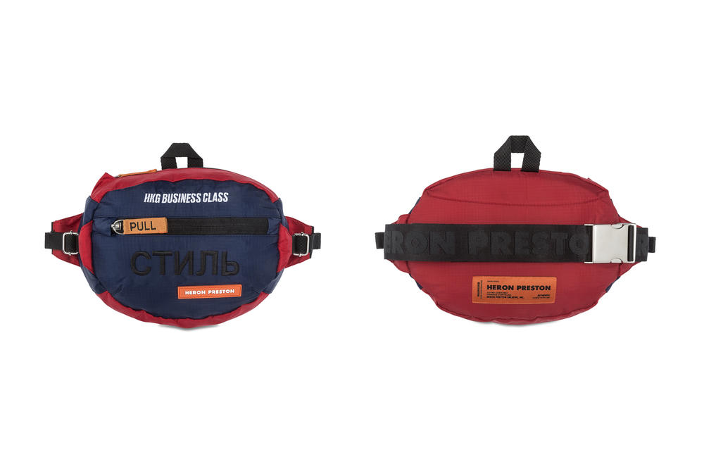 Heron Preston Business Class Fanny Pack Bags Blue Red
