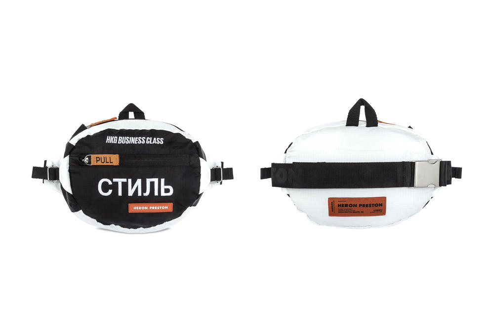 Heron Preston Business Class Fanny Pack Bags White Black