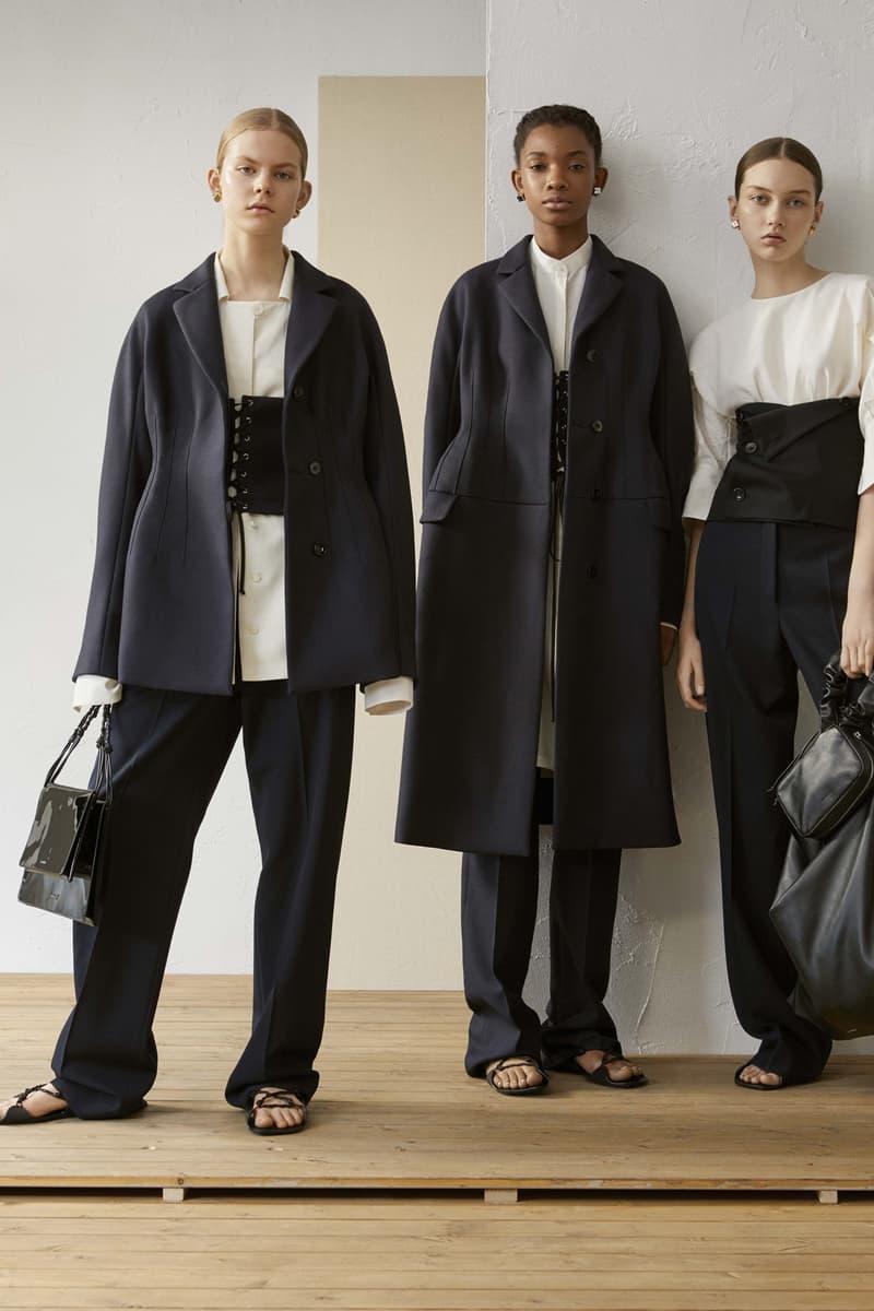 Jil Sander Resort 2019 Collection Lookbook Blazer Bustier Trousers Navy Black