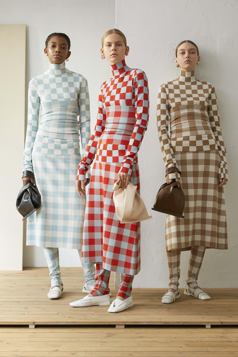 Jil Sander Resort 2019 Collection Lookbook Tops Skirts Leather Handbags White Blue Red Brown