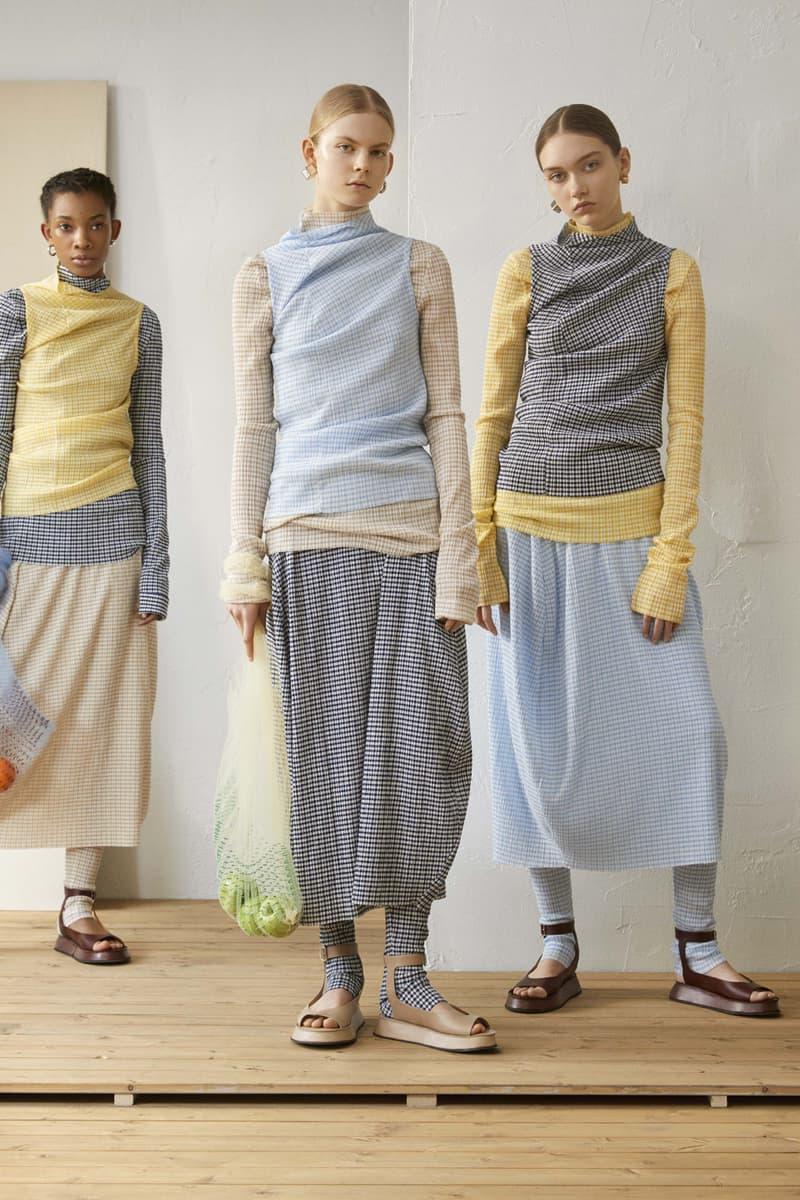 Jil Sander Resort 2019 Collection Lookbook Shirt Skirt Yellow Blue White