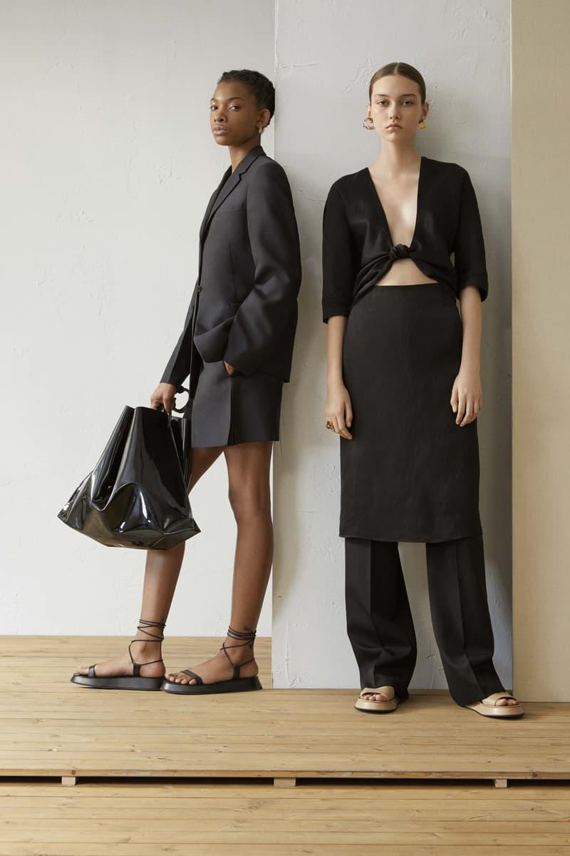 Jil Sander Resort 2019 Collection Lookbook Blazer Shorts Top Pants Black