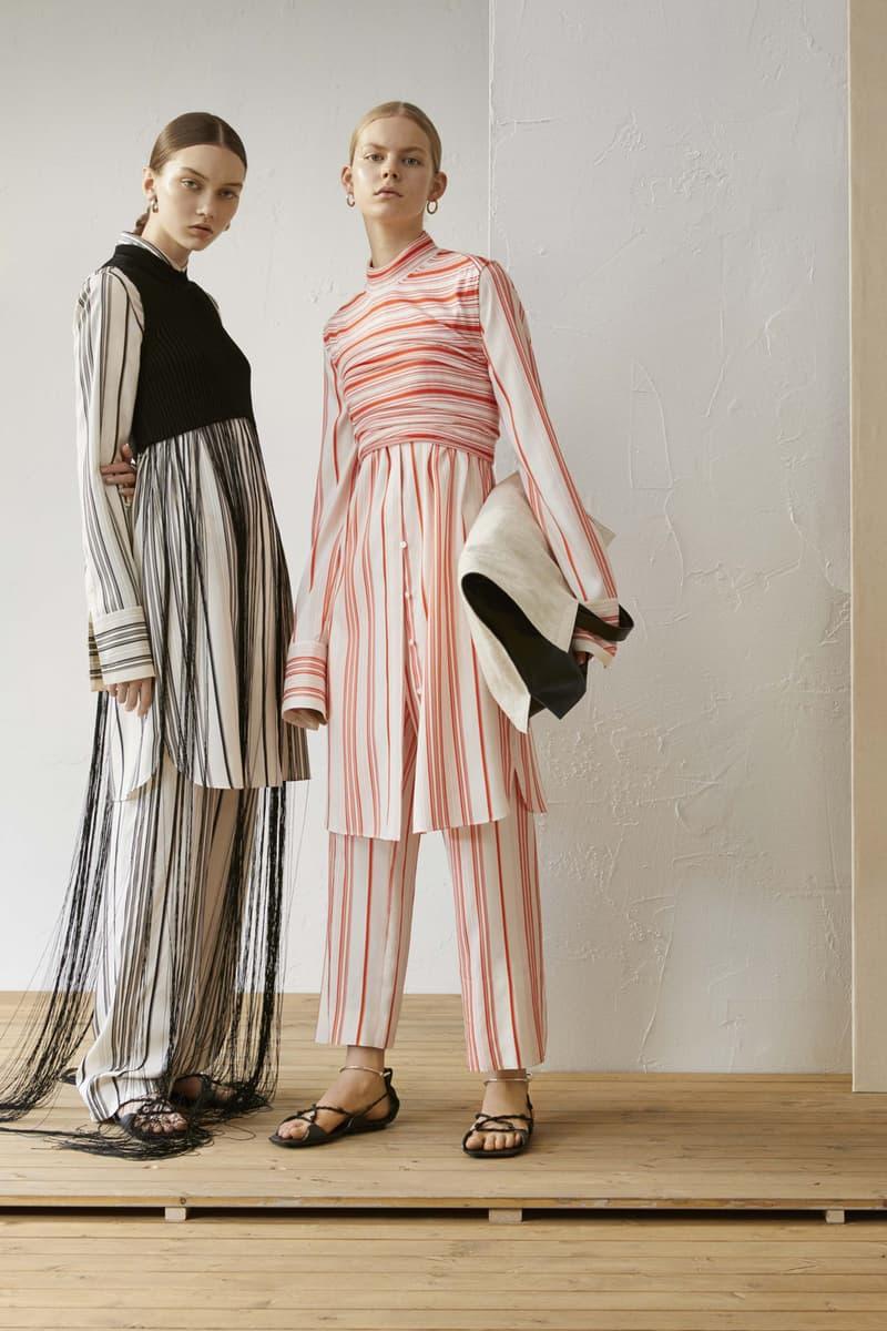 Jil Sander Resort 2019 Collection Lookbook Striped Shirt Pants Black Red White