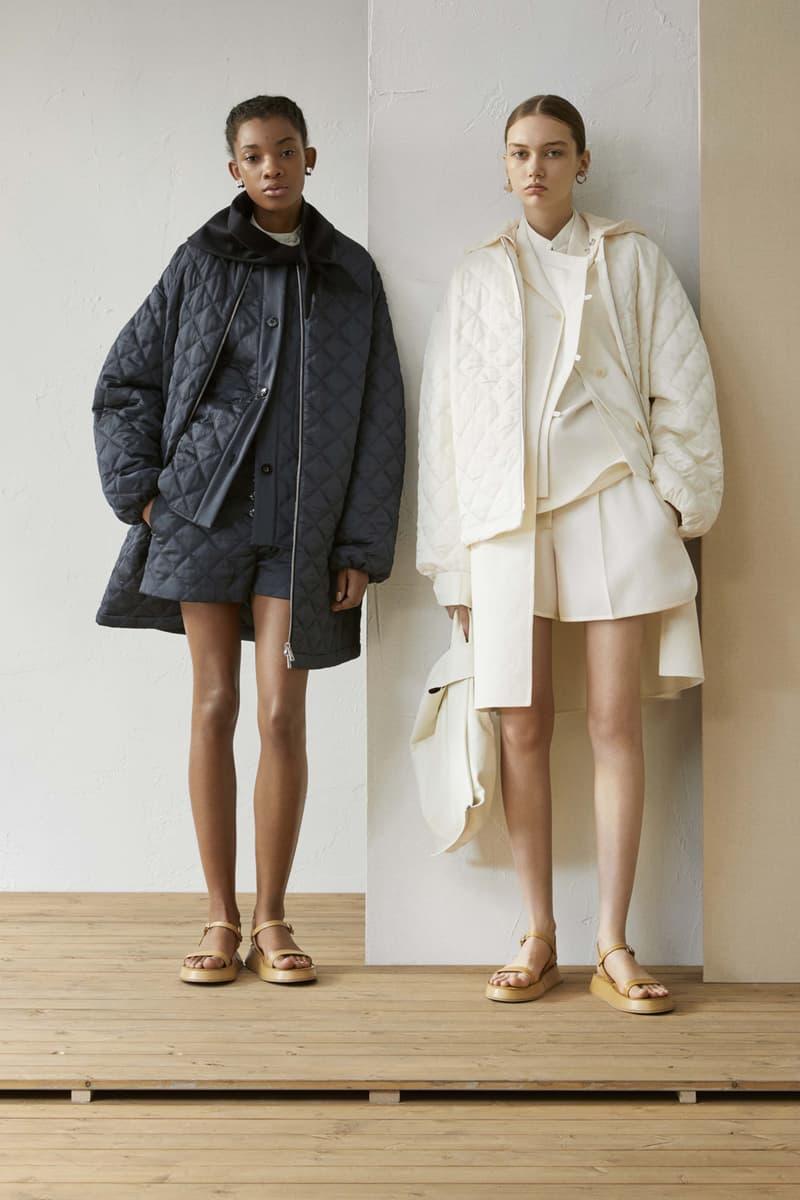 Jil Sander Resort 2019 Collection Lookbook Coats Navy White