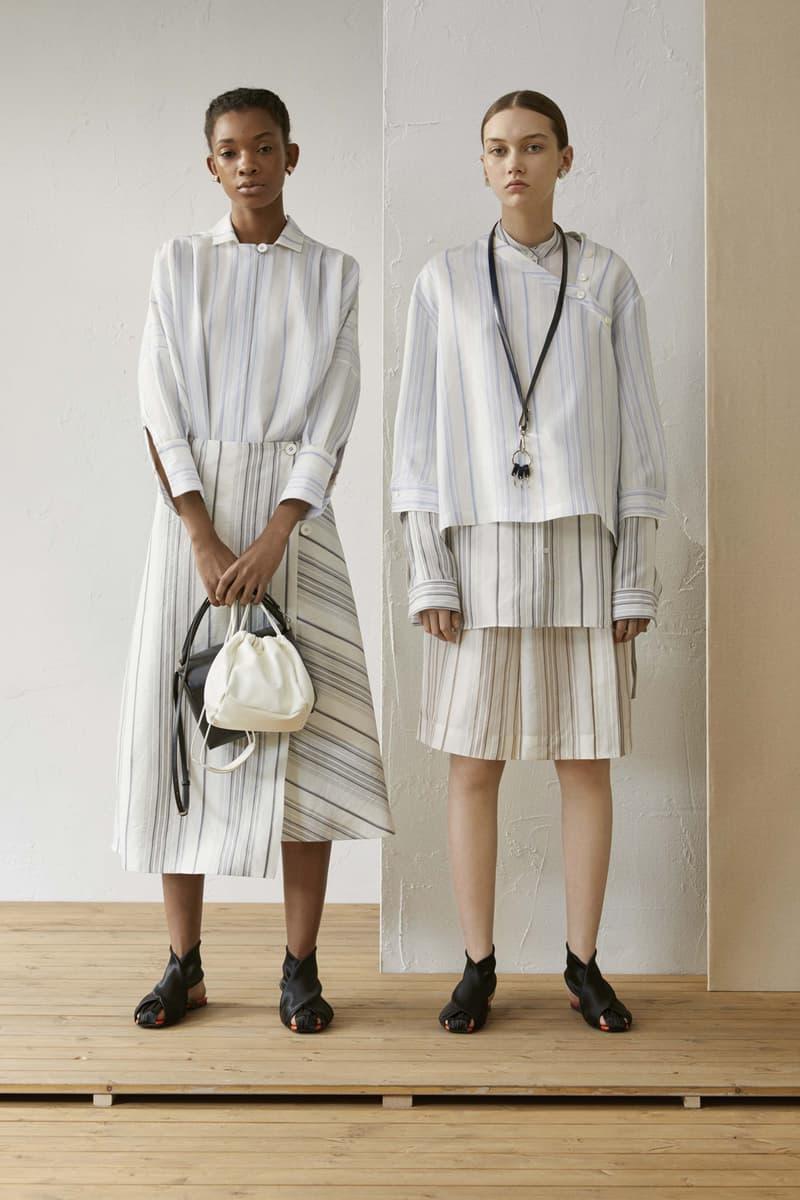 Jil Sander Resort 2019 Collection Lookbook Striped Shirt Skirt White Blue