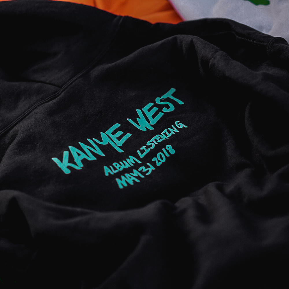 Kanye West ye Wyoming Album Listening Party Merch Hoodie Black