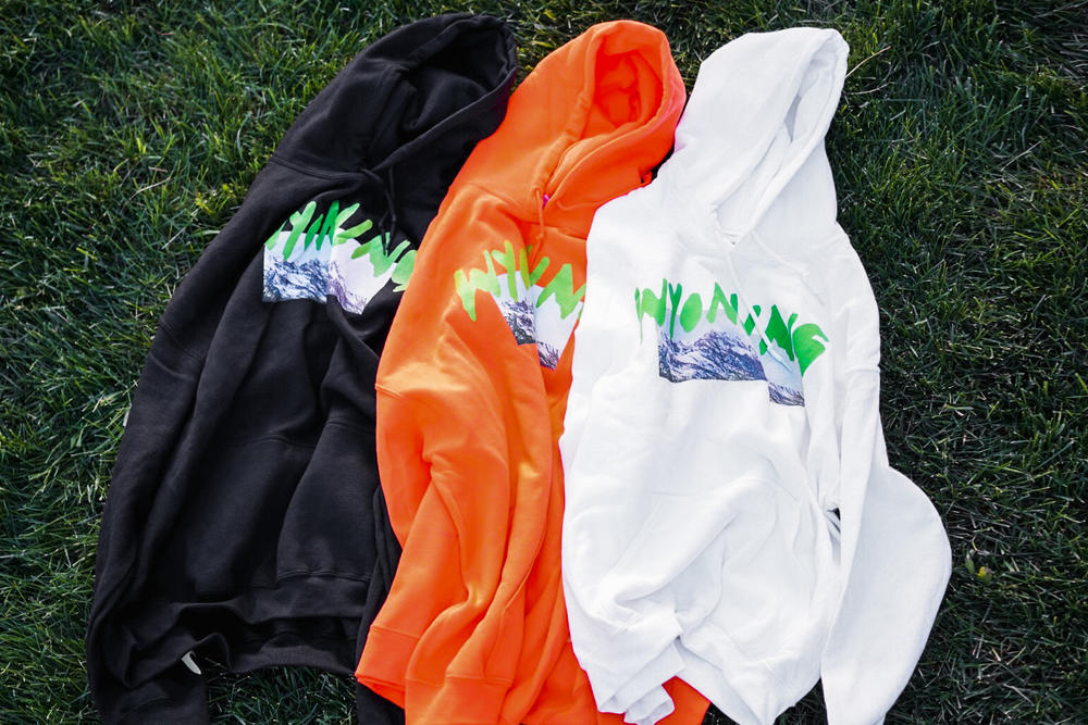 Kanye West ye Wyoming Album Listening Party Merch Orange Black White Hoodie
