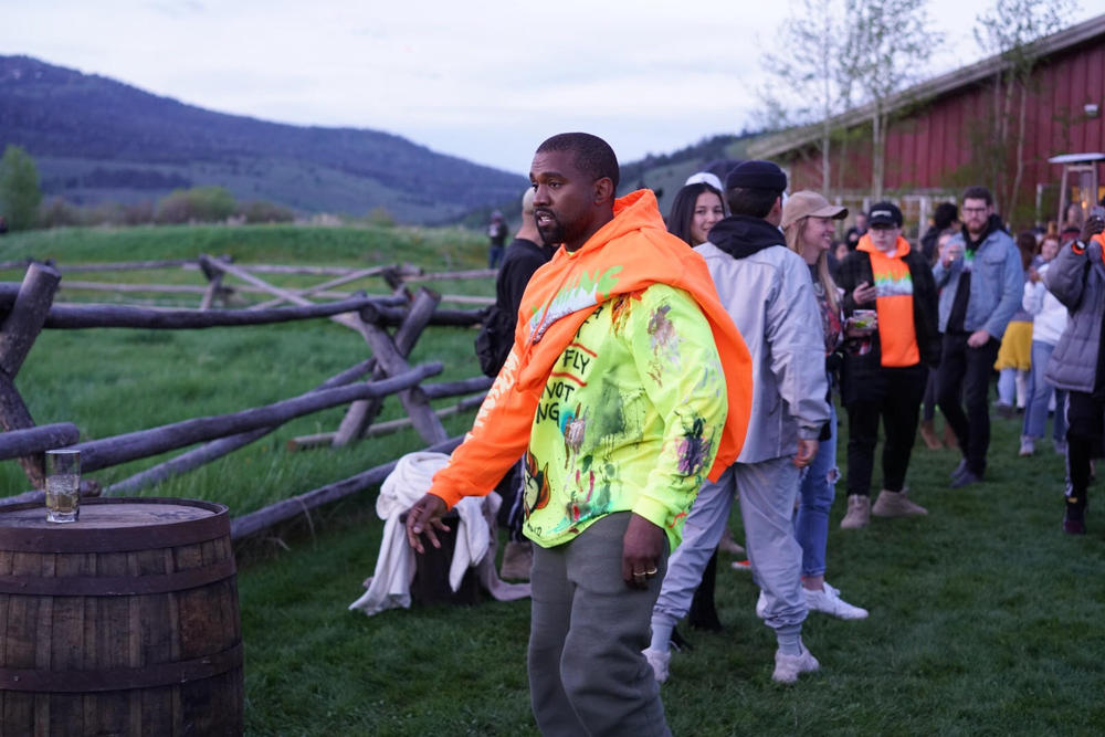Kanye West ye Wyoming Album Listening Party Merch Hoodie Orange