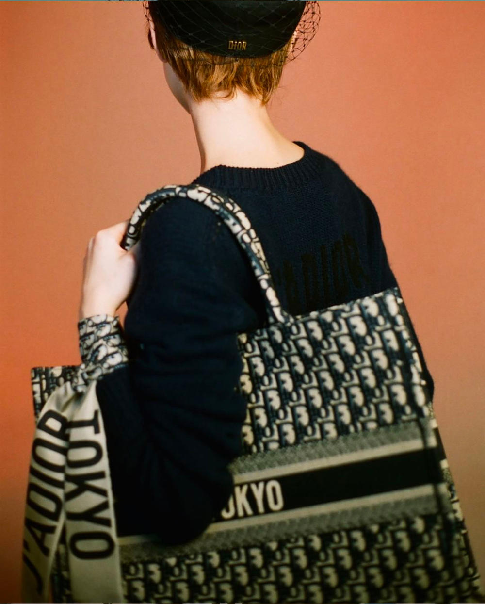 Kiko Mizuhara Christian Dior Tokyo Exclusive Campaign Beret Hat Logo Bag