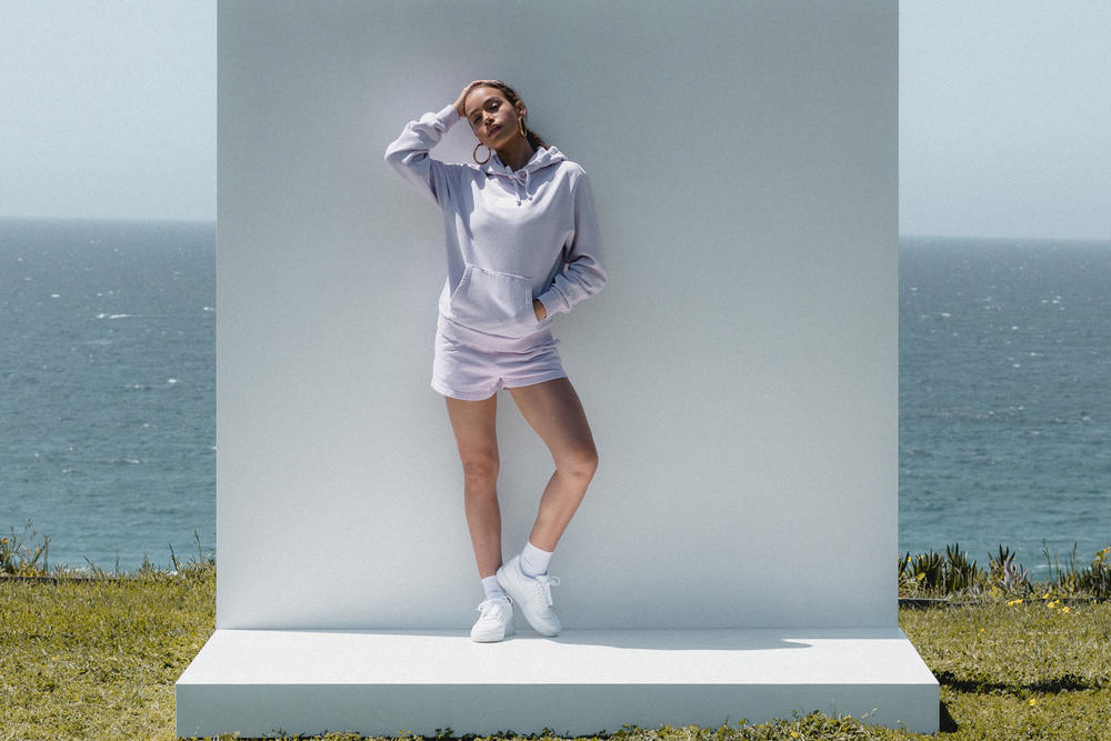 Kith Women Spring 2018 Classics Collection Baxter Hoodie Elizabeth Shorts Lilac