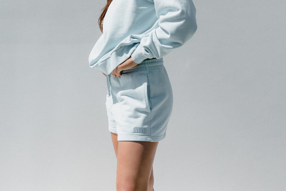 Kith Women Spring 2018 Classics Collection Crosby Crew Elizabeth Shorts Baby Blue