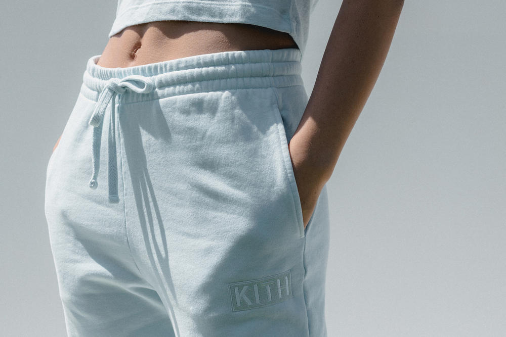 Kith Women Spring 2018 Classics Collection Wooster Sweatpants Baby Blue