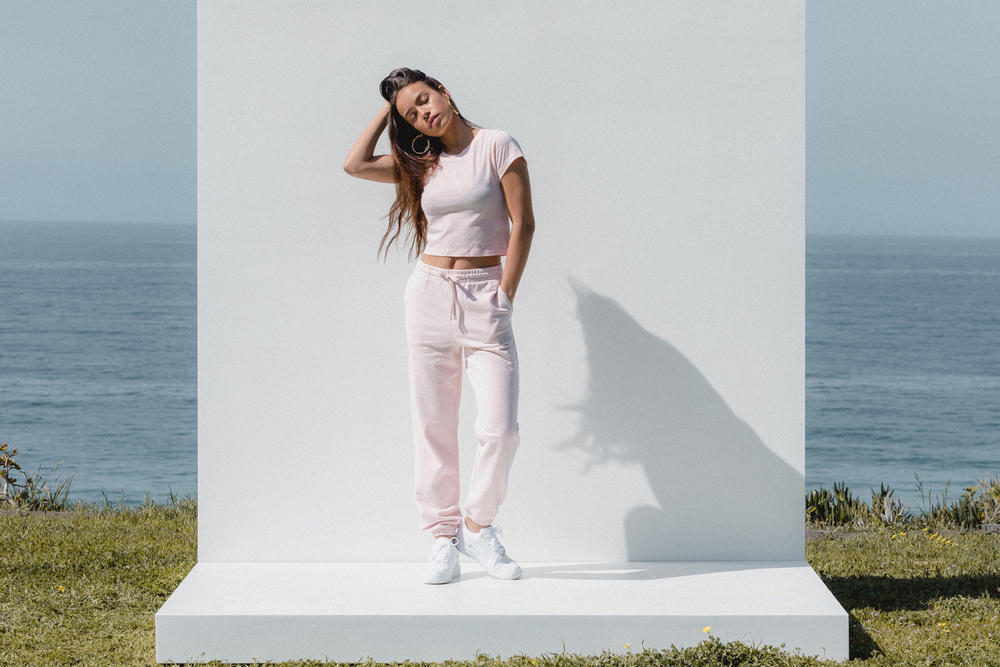 Kith Women Spring 2018 Classics Collection Mulberry Tee Wooster Sweatpant Baby Pink