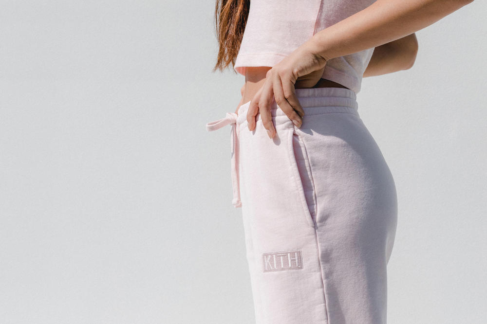 Kith Women Spring 2018 Classics Collection Wooster Sweatpant Baby Pink