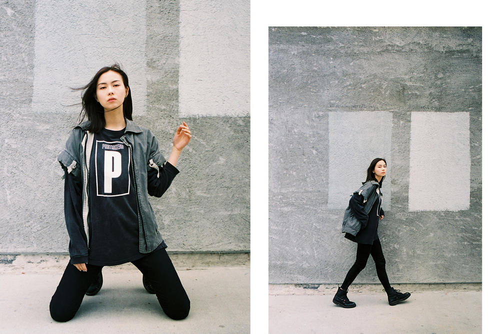Lauren Tsai Terrace House Aloha State Black T-shirt Jeans Boots Varsity Vintage Editorial
