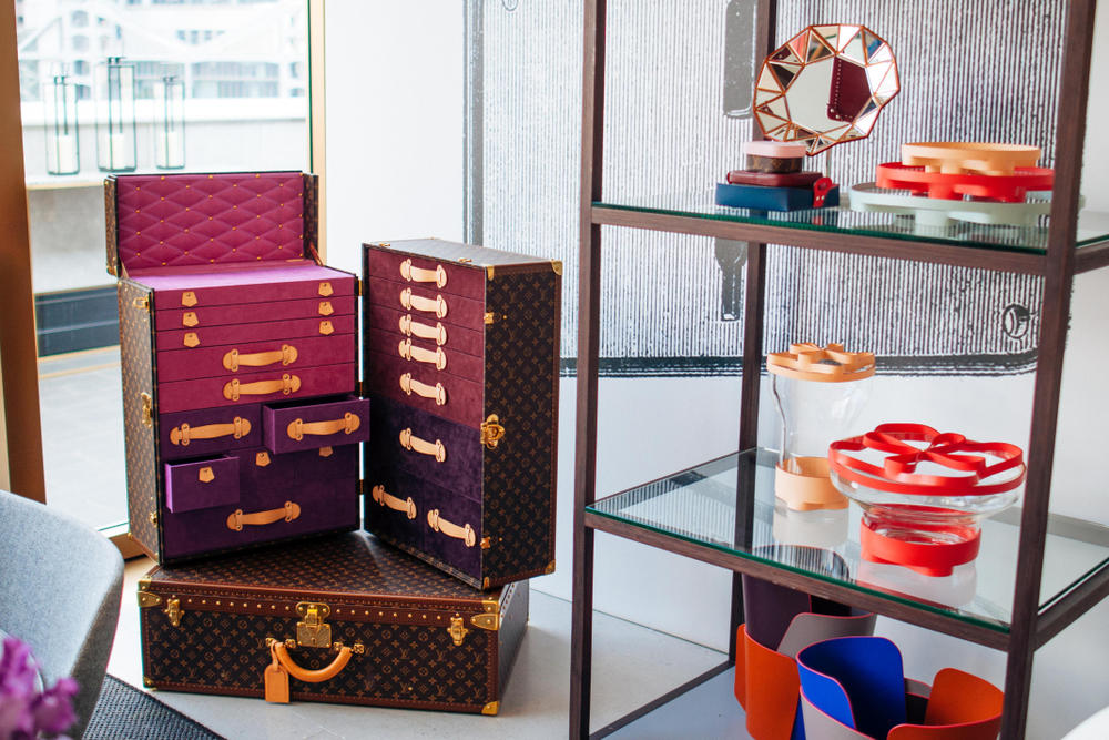 Louis Vuitton Trunks Objects Nomades Collection Case LV Print Monogram Hong Kong Exhibition