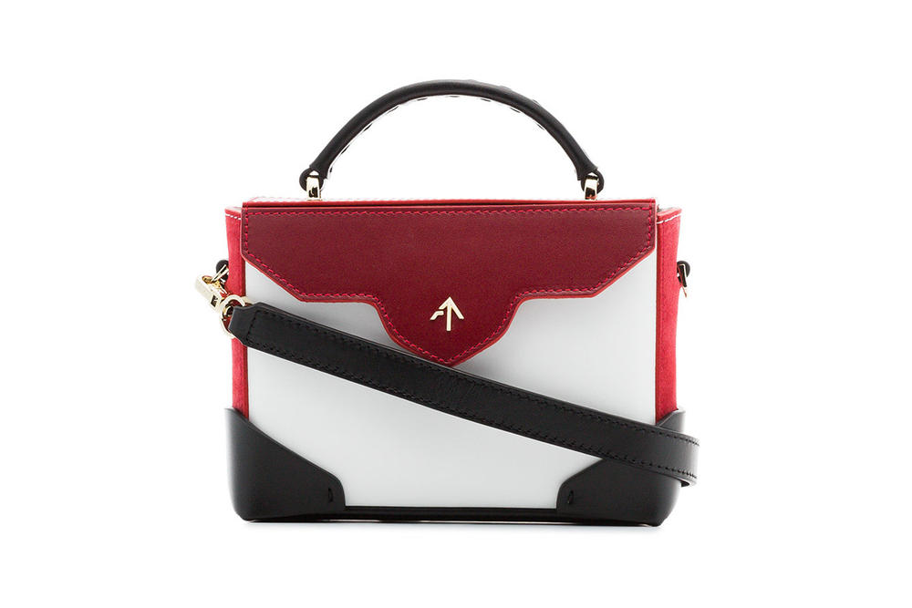 MANU Atelier Micro Bold Bag White Red Black