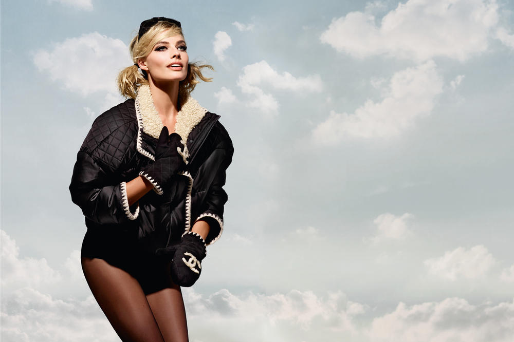 Margot Robbie Chanel Coco Neige Collection Campaign Jacket Black