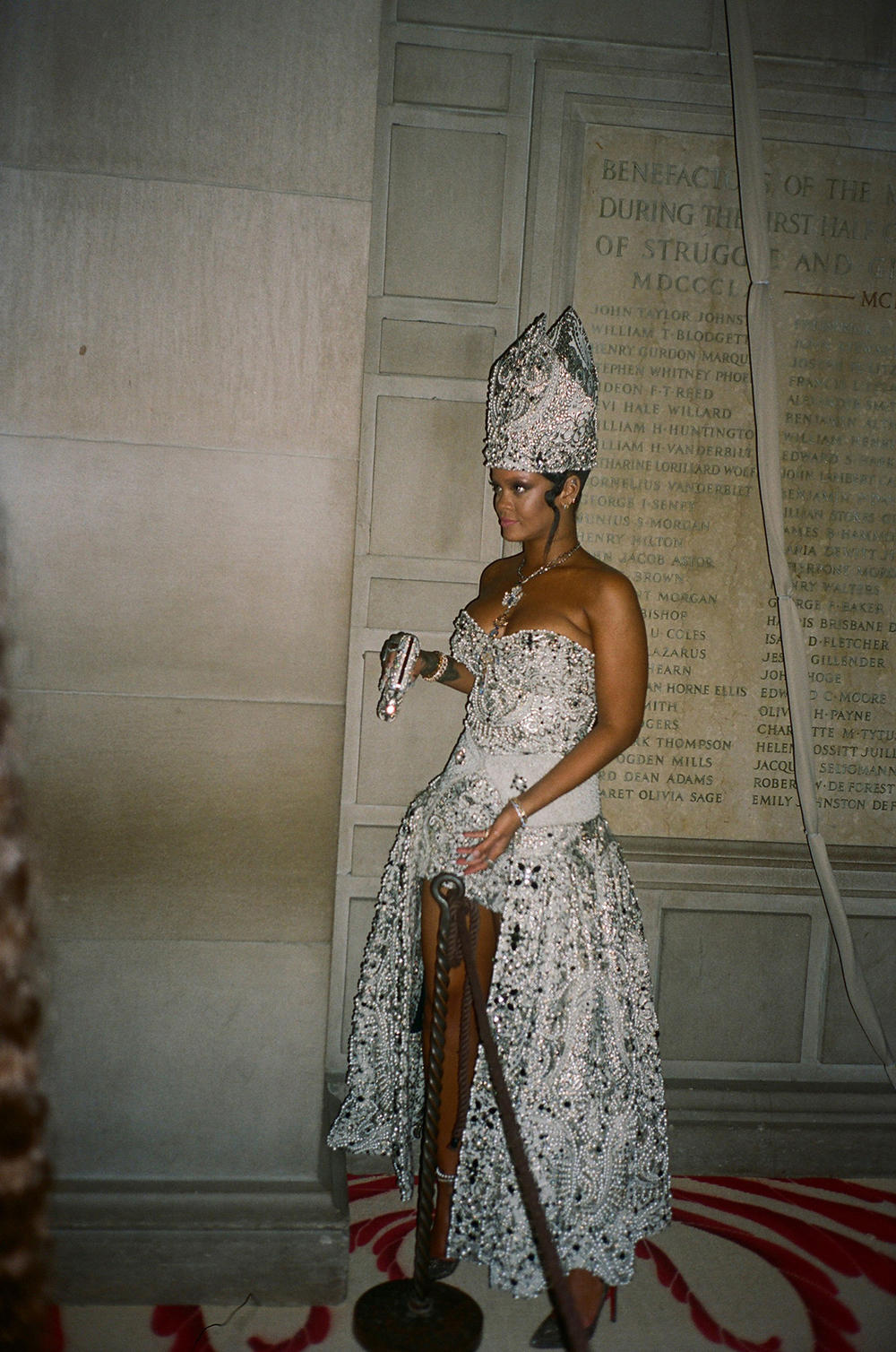 Met Gala 2018 Rihanna Pope John Galliano Maison Margiela Candid Film Photo