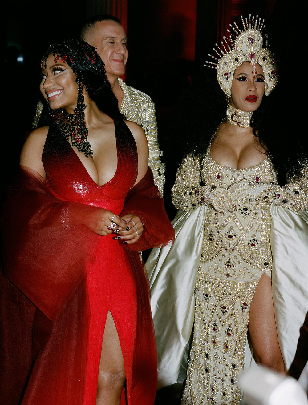 Met Gala 2018 Cardi B Nicki Minaj Candid Film Photo