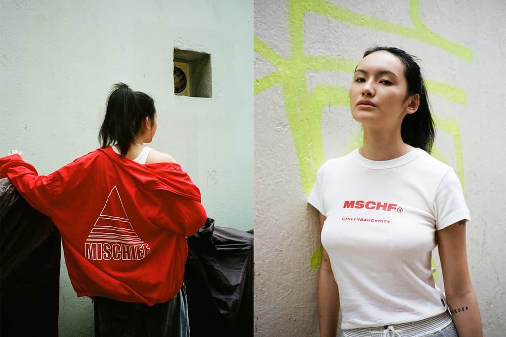 MISCHIEF Spring/Summer 2018 HBXWM HBX Editorial Delta Windbreaker Jacket Csc Short Sleeve T-Shirt Red White