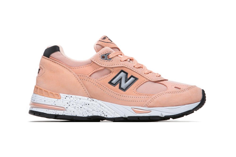 Naked Copenhagen New Balance 991 Peach Parfait Chunky Dad Sneaker