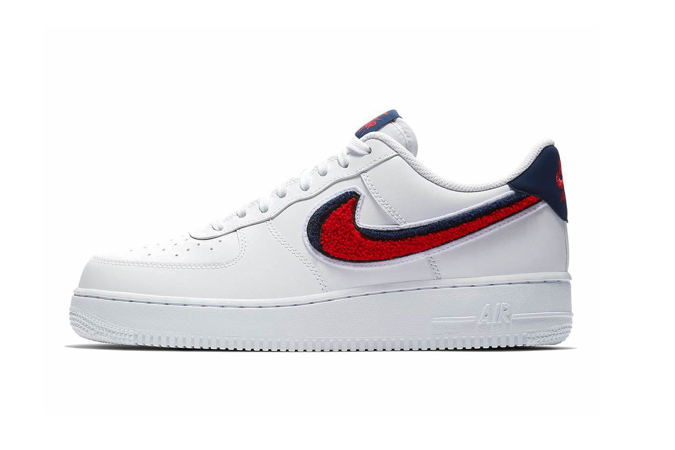 nike air force 1 blue and red