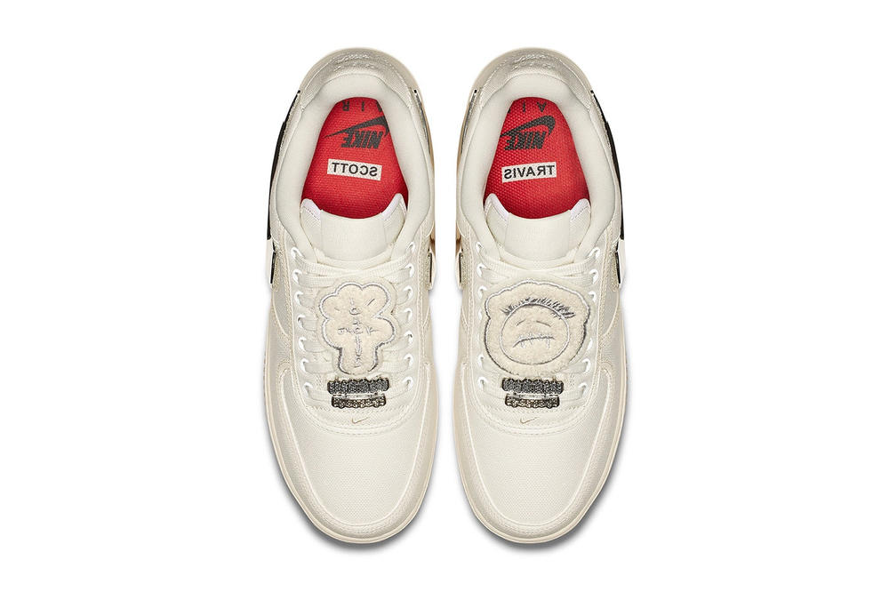 Nike Air Force 1 Low Sail Travis Scott Removable Swoosh Sneaker
