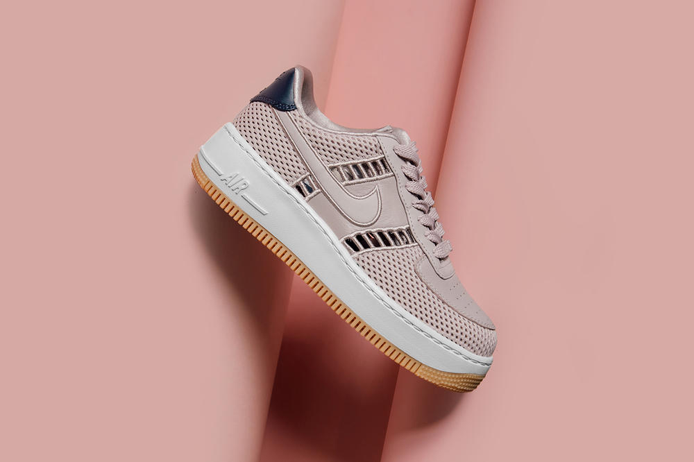 Nike Air Force 1 Upstep Dusky Pink Particle Rose