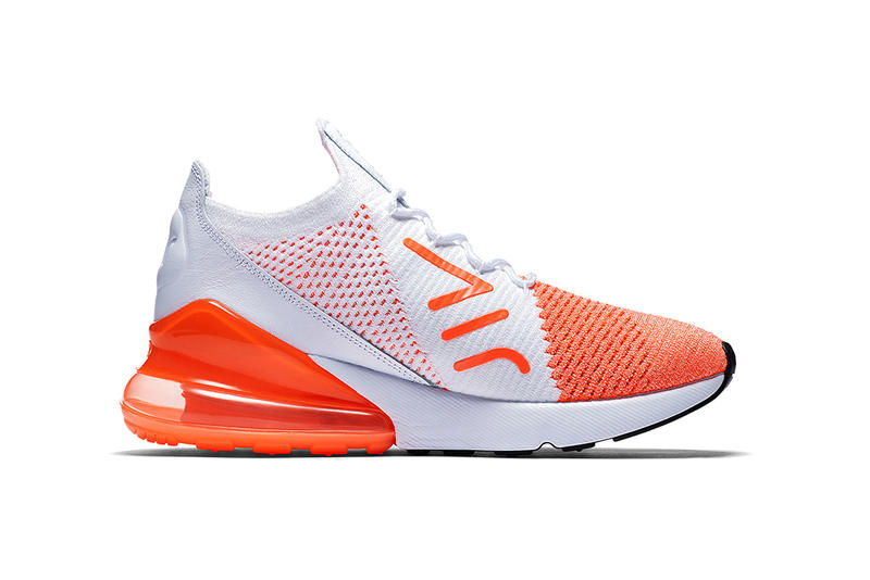 Nike Air Max 270 Flyknit Crimson Pulse Colorway