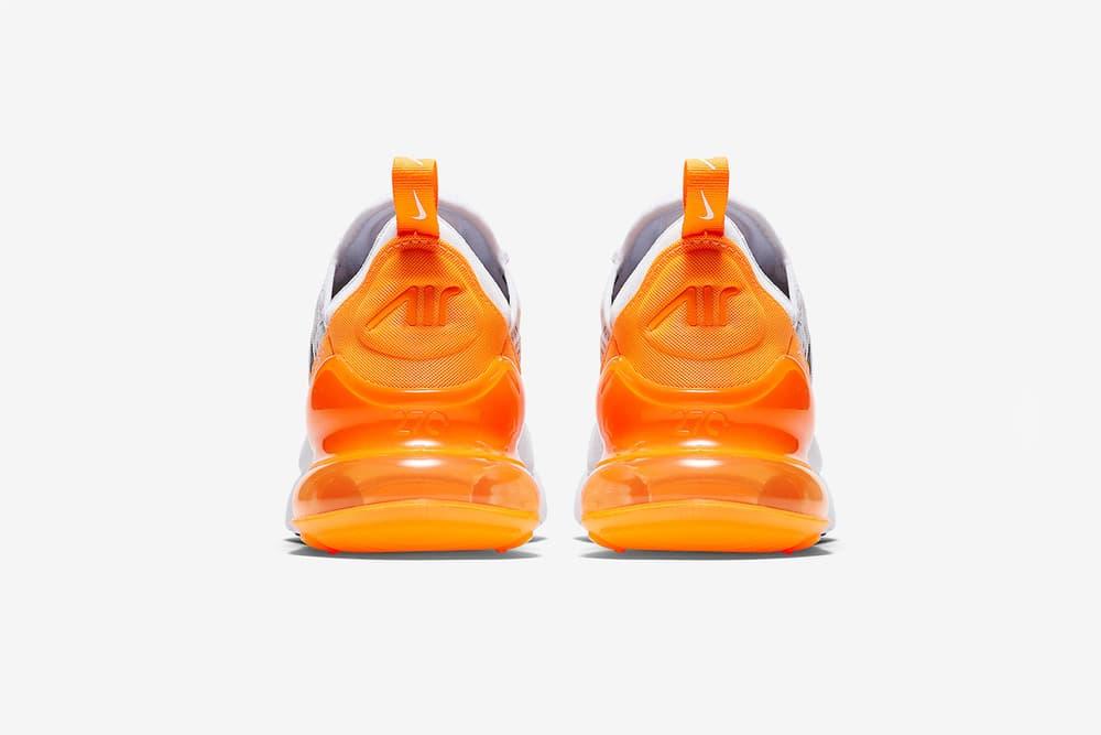 Nike Air Max 270 Orange Sneaker Summer Ready