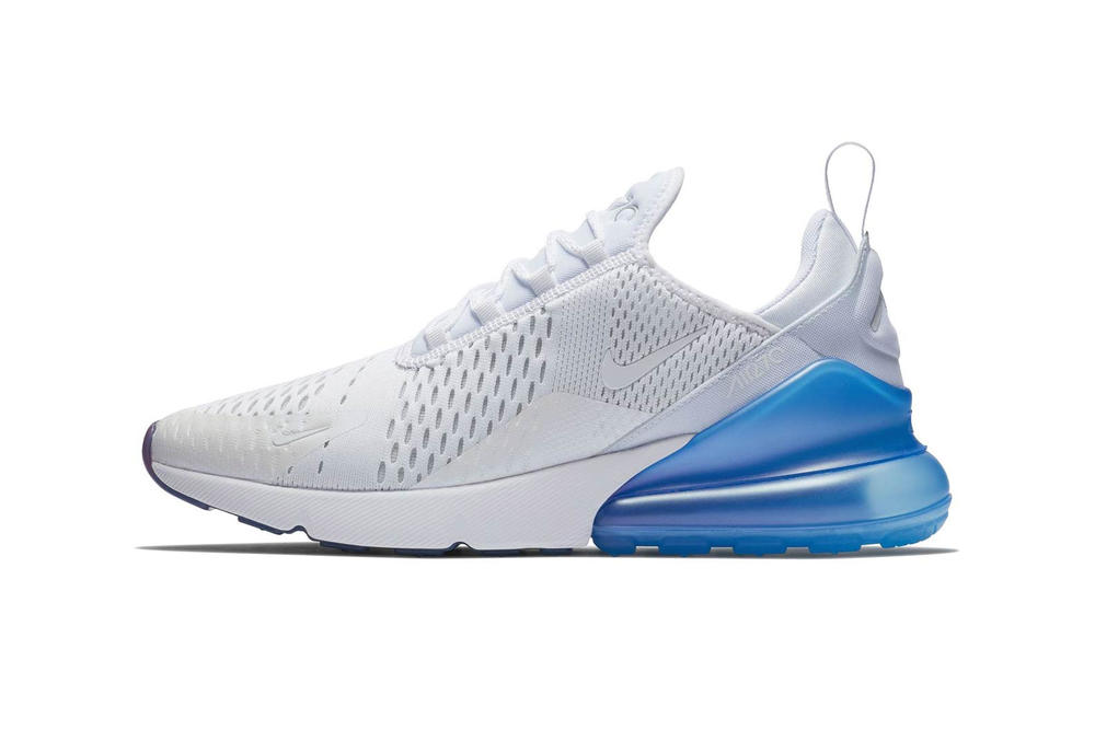 Nike Air Max 270 White Metallic Silver Blue
