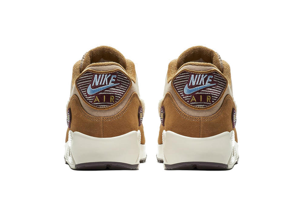Nike Air Max 90 Chenille Swoosh Brown Textured Sneaker Retro