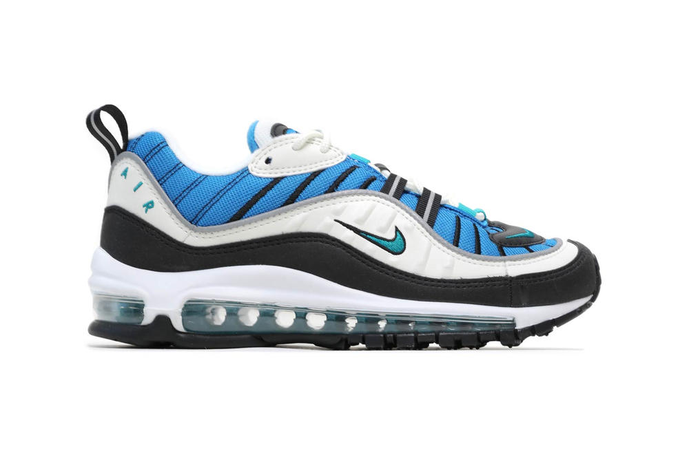 Nike Air Max 98 Sail Radiant Emerald Blue