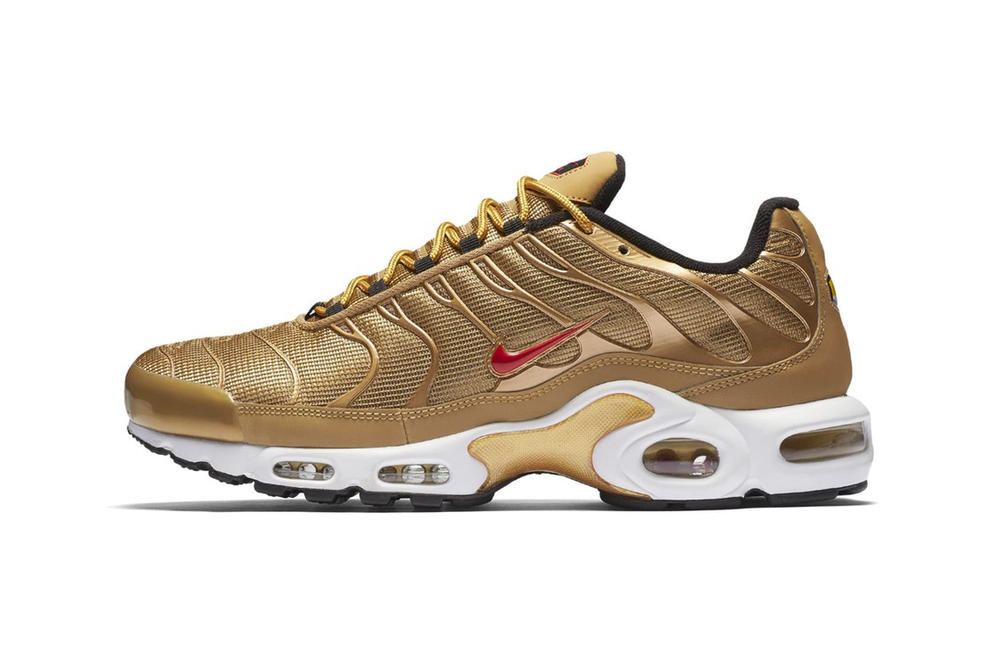 huge selection of c354a 9d8f7 Nike Air Max Plus Metallic Gold