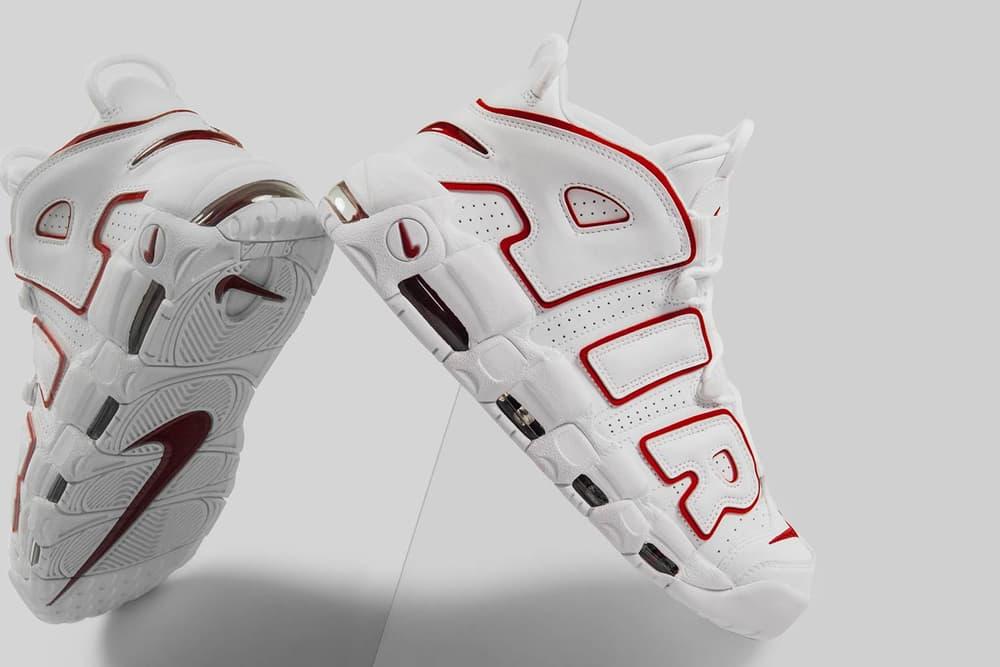 Nike Air More Uptempo 96 White Varsity Red